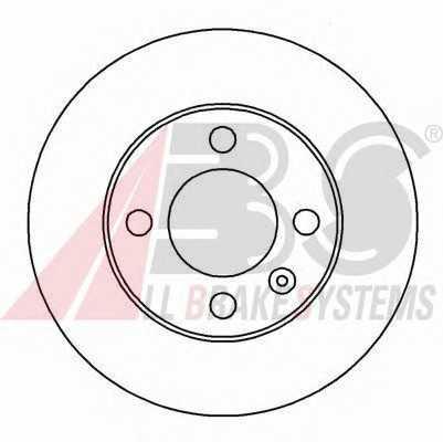 Тормозной диск перед. VW Polo/Lupo 94-05 (239x18) 16541 abs