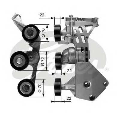Натяжной ролик, поликлиновой  ремень T38465 gates