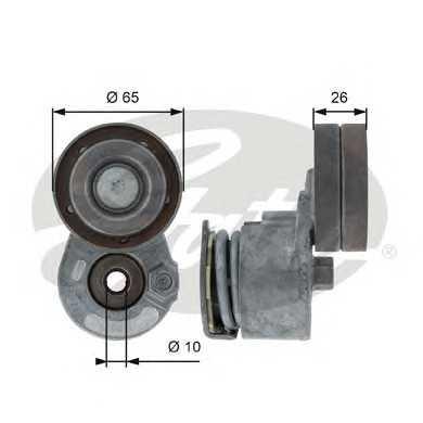 Ролик (метал с натяж.) натяжной ремня генератора Renault F9Q -AC 65x26 T38468 gates