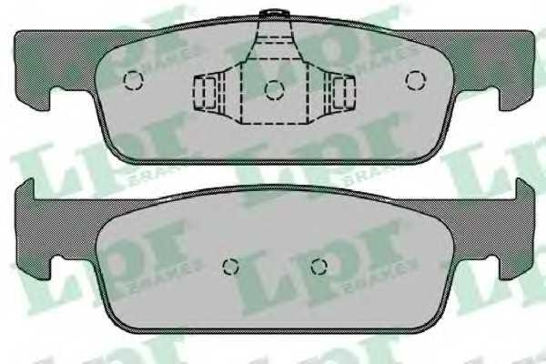 GDB2016 Комплект тормозных колодок, дисковый тормоз 05P1702 lpr