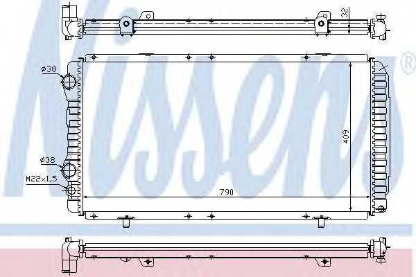 Радиатор системы охлаждения двигателя NRF 52062A 61390 nissens