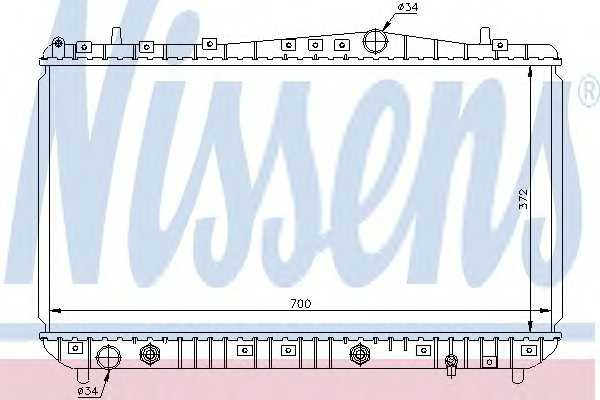 Радиатор охлаждения Лачетти 1,6/1,8 автомат (алюм-паяный) Luzar 61634 nissens