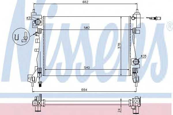 Радиатор системы охлаждения двигателя NRF 53115 630743 nissens