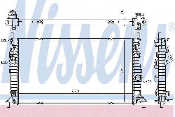 Радиатор FD FOCUS II(04-)RS 305(+)[OE 1594933] 69242 nissens