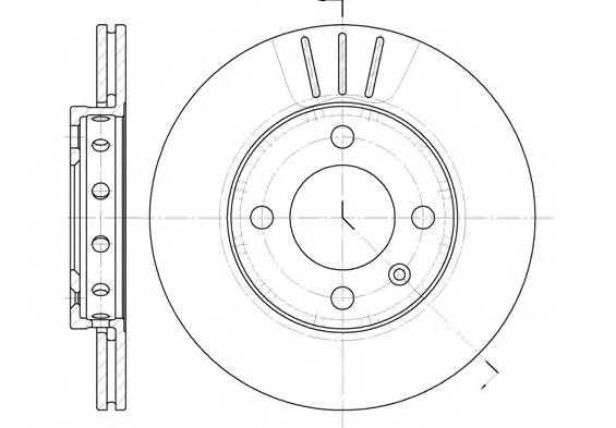 Тормозной диск перед. VW Polo/Lupo 94-05 (239x18) 642610 roadhouse