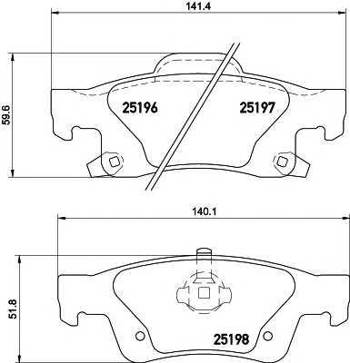 Комплект тормозных колодок, дисковый тормоз 2519601 textar