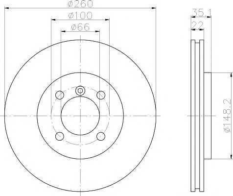 Тормозной диск 92026503 textar