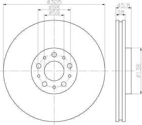 Тормозной диск 92237603 textar