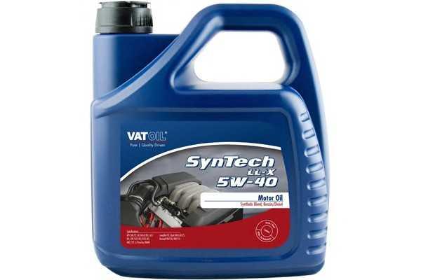 Масло моторное Vatoil SynTech LL-X 5W40 / 4л. / (ACEA A3/B4-12, API SN/CF) 50035 vatoil